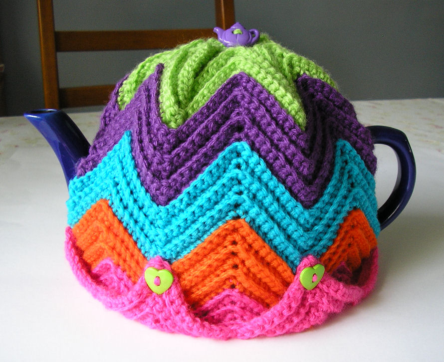 15 Quick And Easy Crocheted Tea Cozies