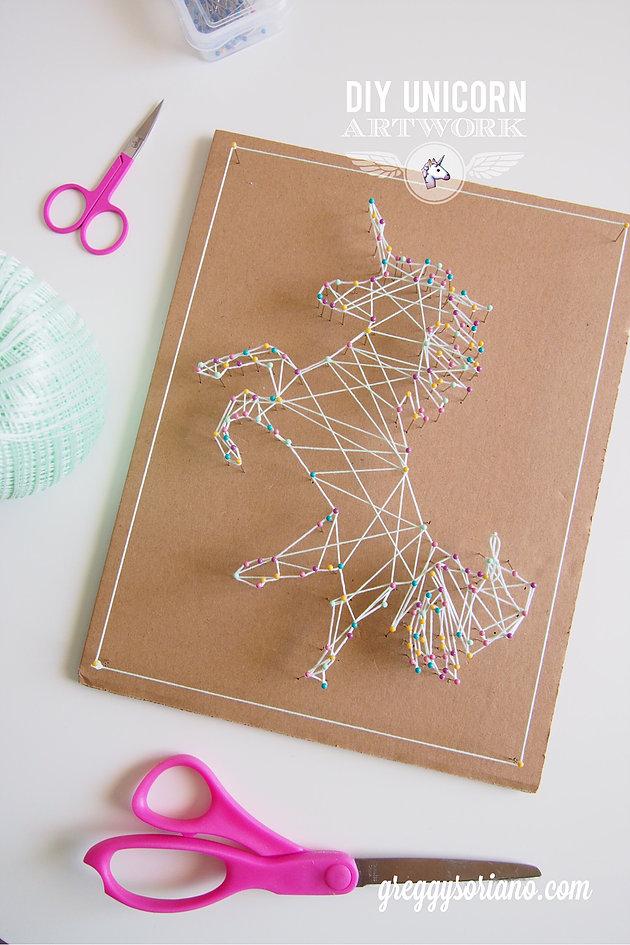 String art unicorn