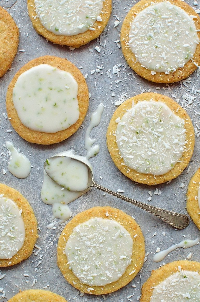 Tropical heaven taste coconut lime shortbread cookies