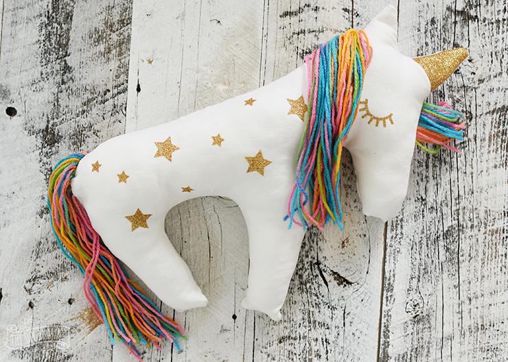 Unicorn pillow plush diy