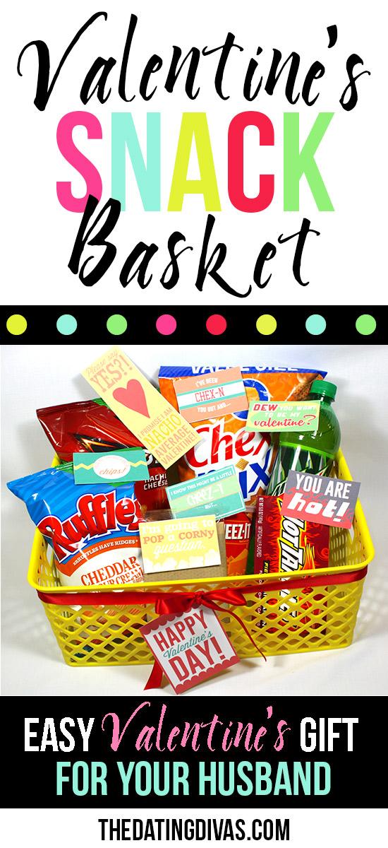 Valentines snack basket diy