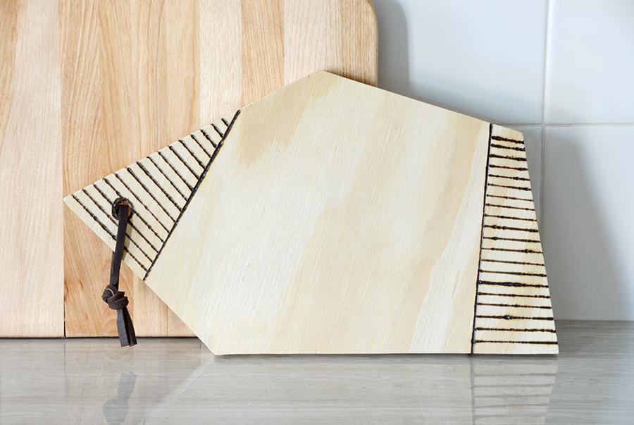 Wood burned serving board 8