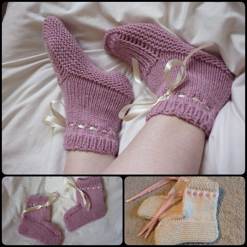 15 Knitted Slipper Sock Patterns