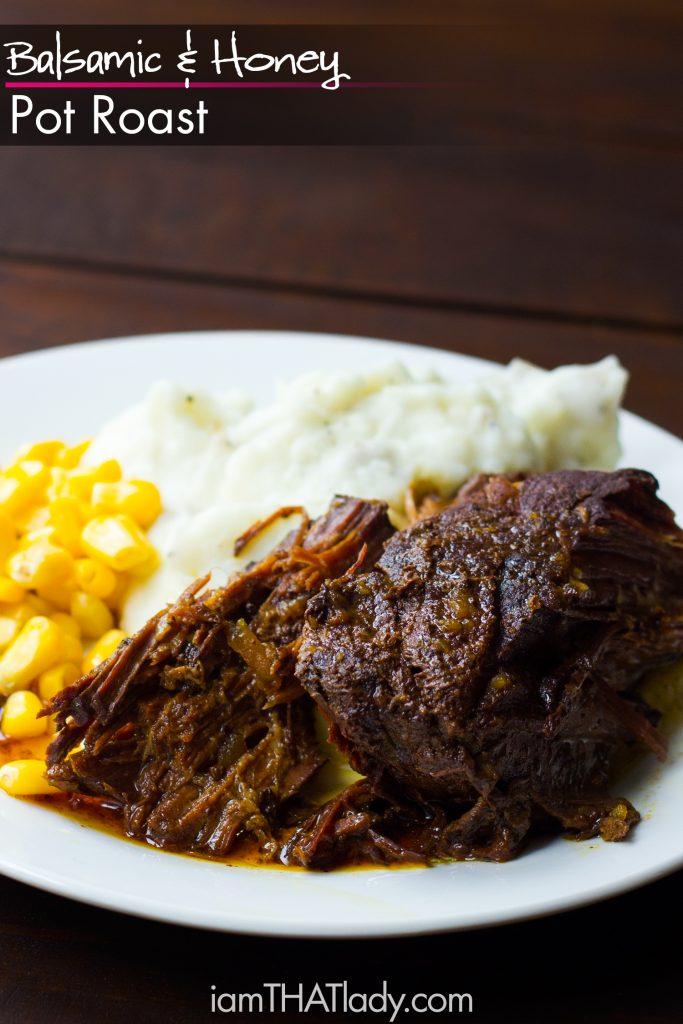 Balsamic and honey pot roast dump dinner