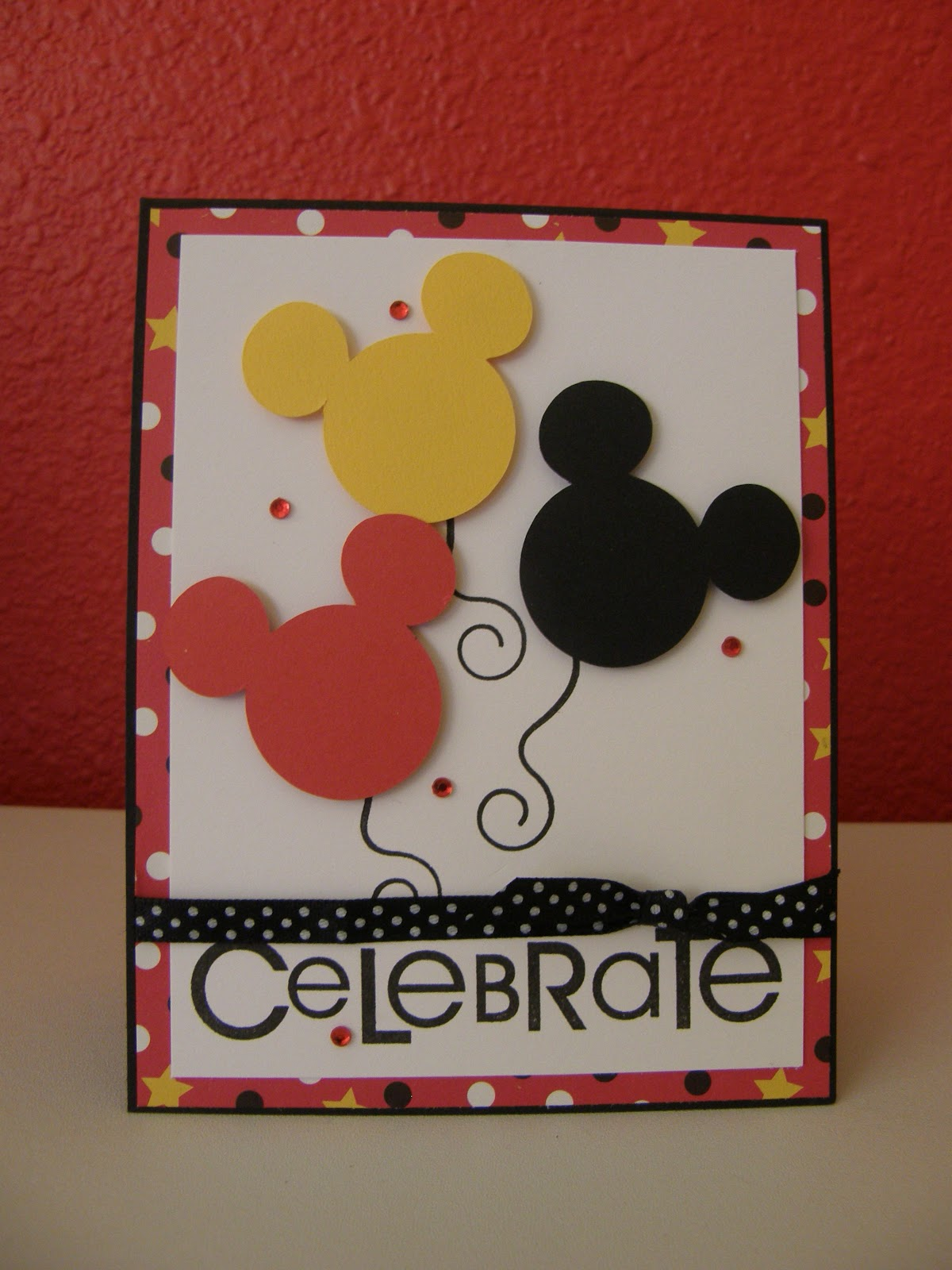Celebrate mickey birthday diy card