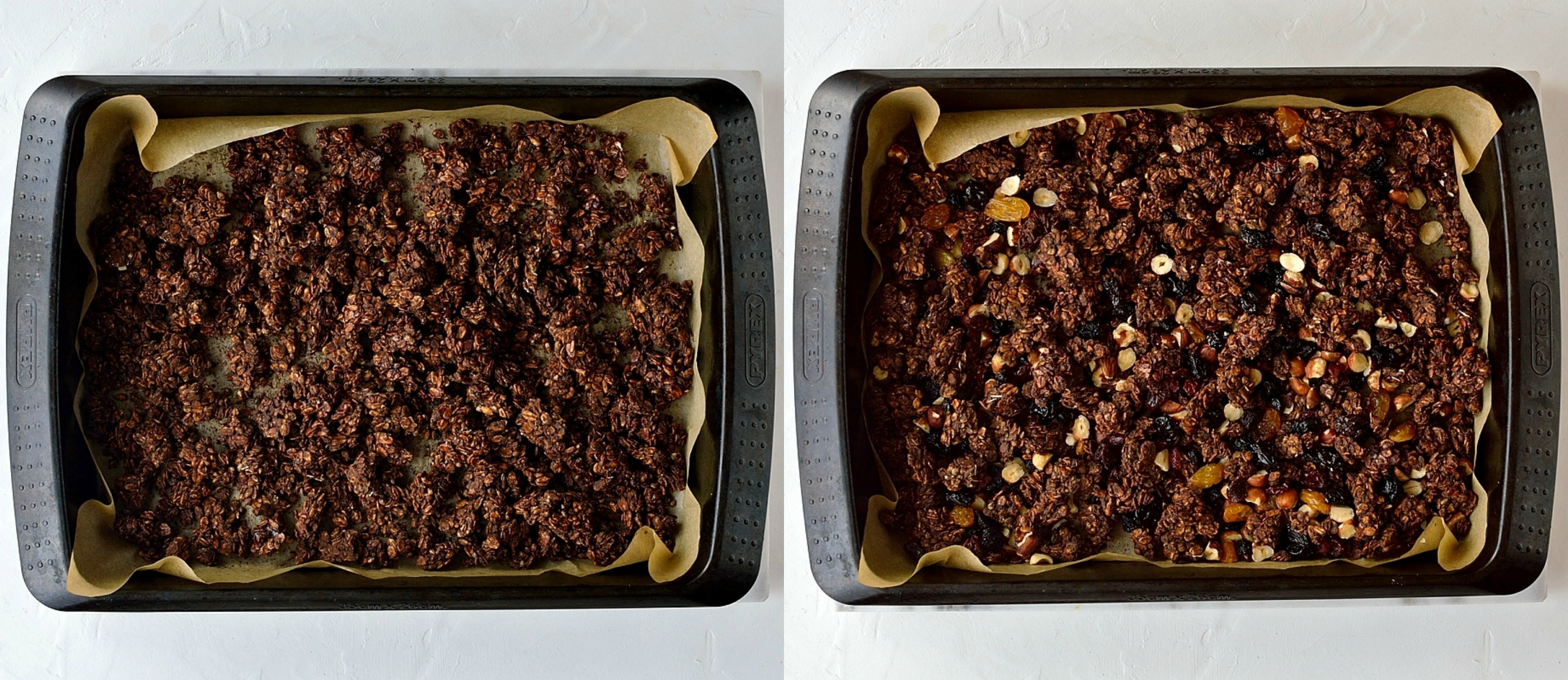 Chocolate berry granola step 6
