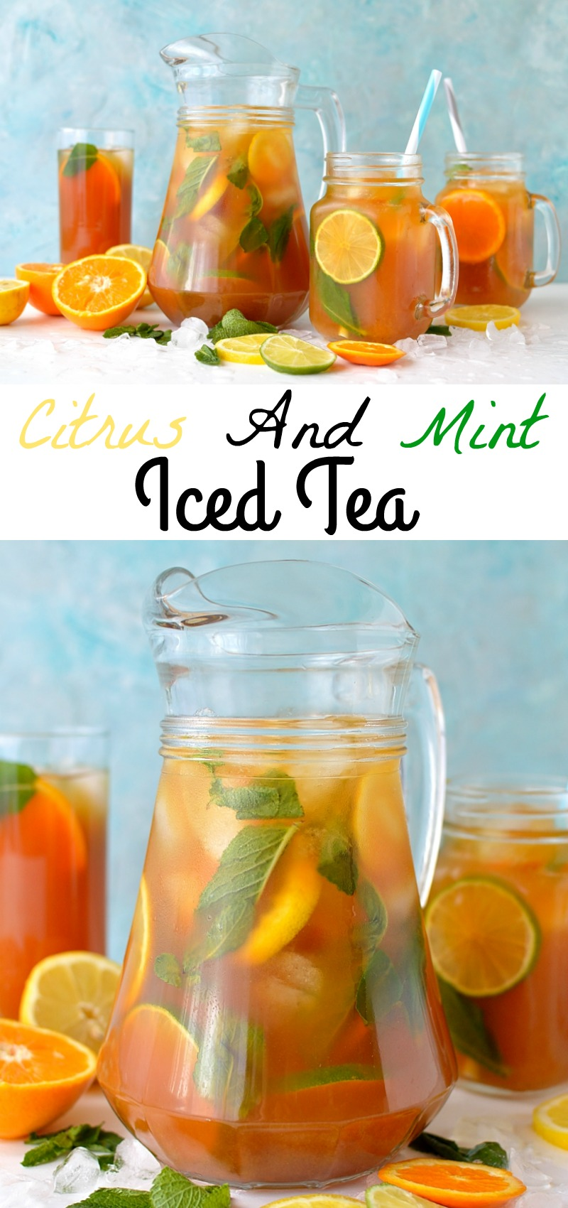 Citrus and mint iced tea pinterest