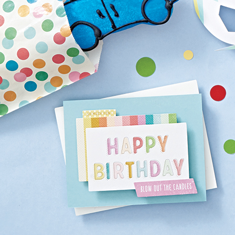 Classic colorful birthday card diy