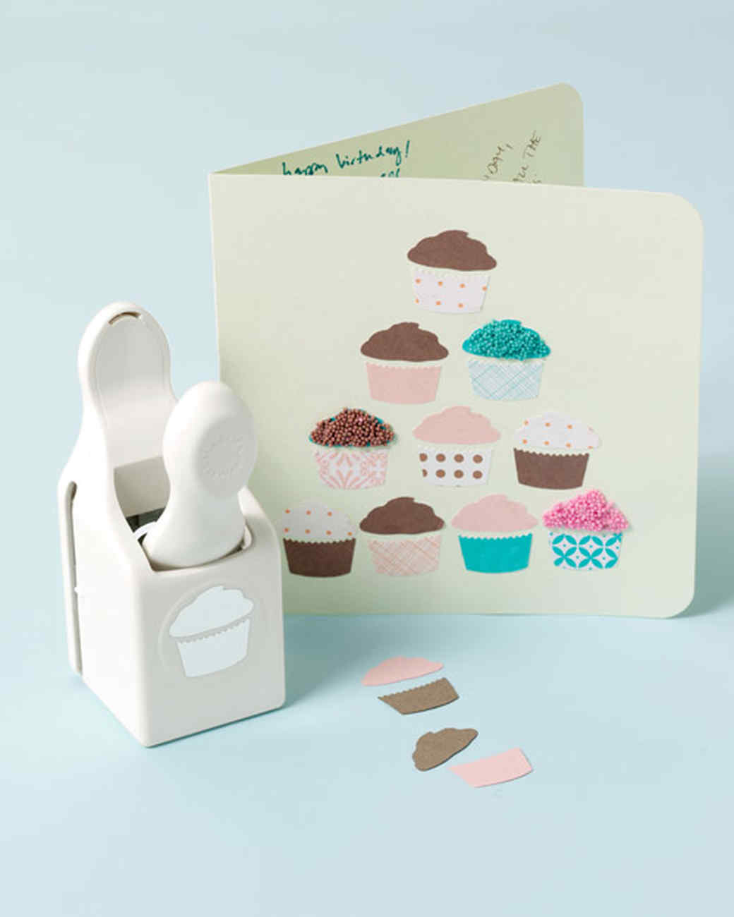 Cupcake punch birthday card diy