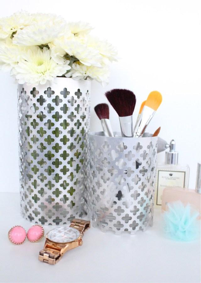 Diy aluminum vase holders
