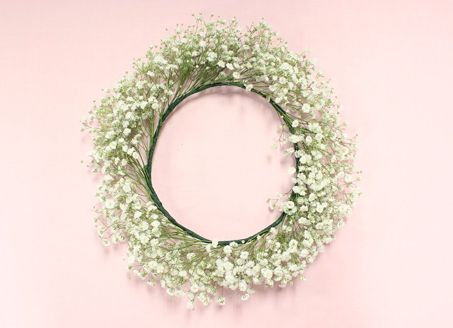 Diy baby's breath flower crown