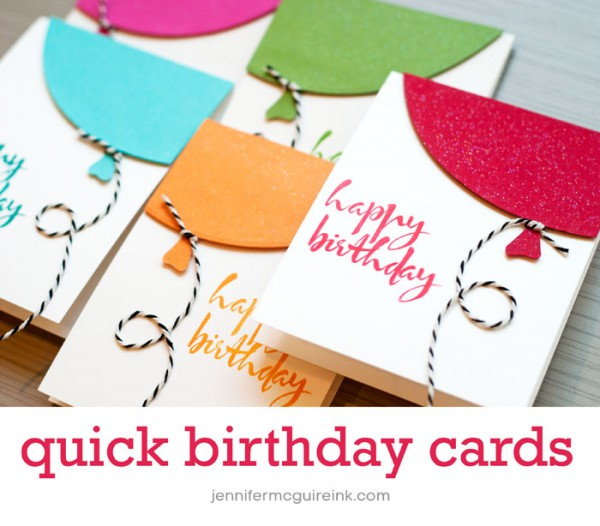 Diy balloons cards