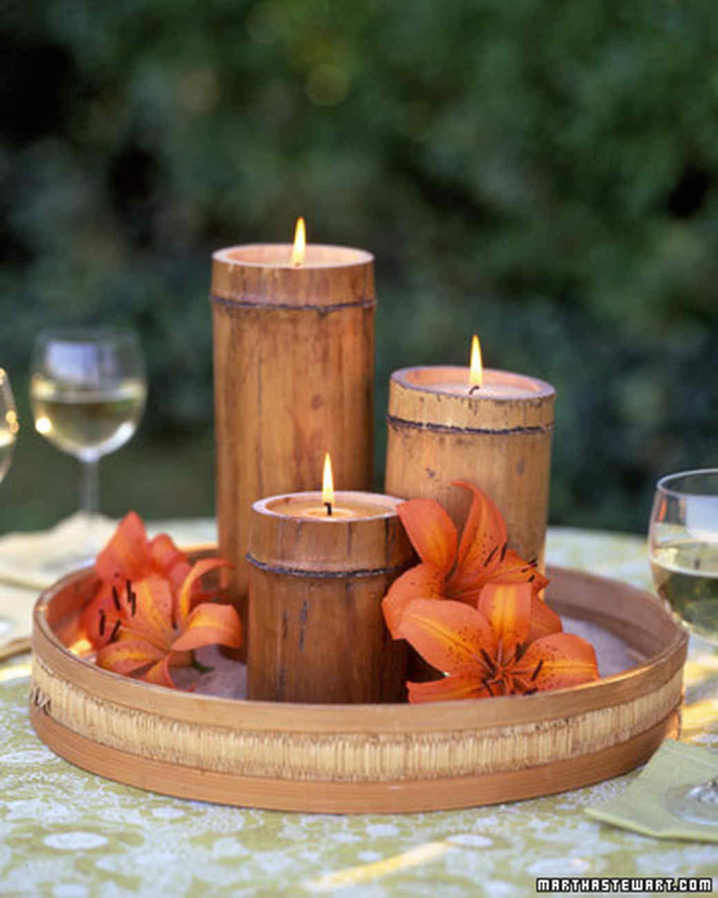 Diy bamboo candles