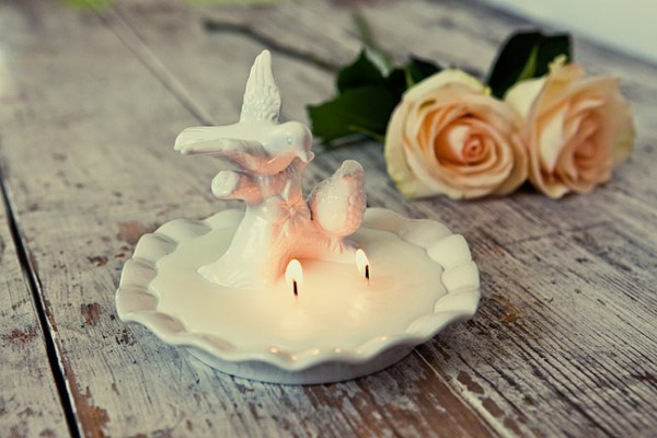 Diy bird bath candle