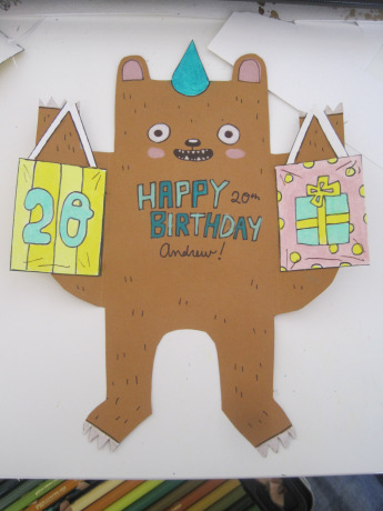 Diy birthday bear card