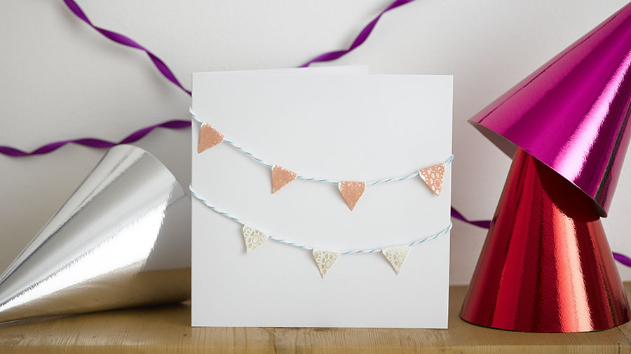 50 diy birthday cards for everyone in your life simple bunting diy birthday card bunting m4hsunfo