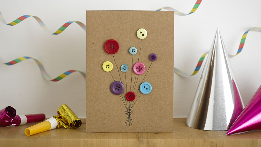 Diy Birthday Card Buttons