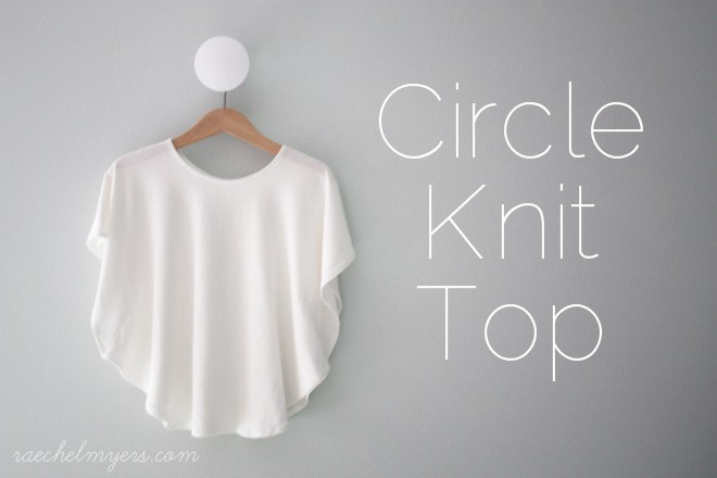 Diy circkle knit top