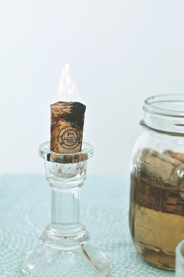 Diy cork candles