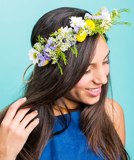 Diy dairy flower crown