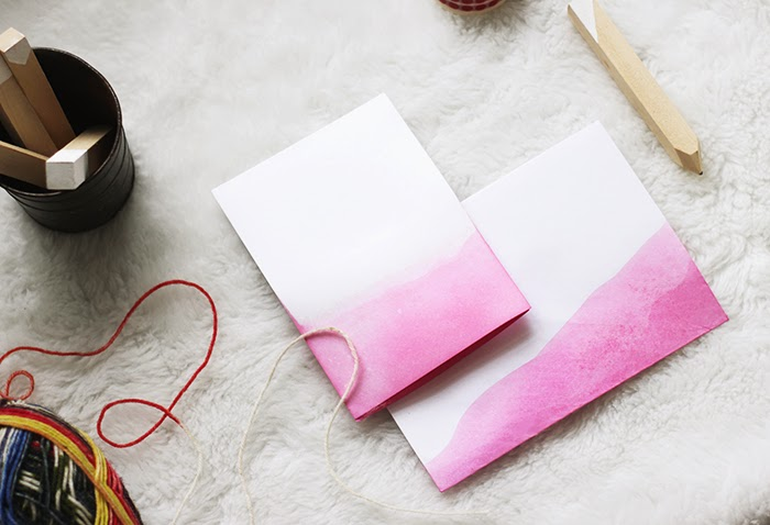 Diy dip dyed stationary