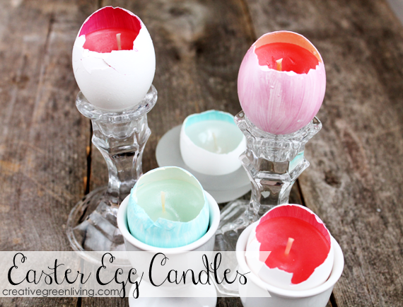 Diy eggshell candles