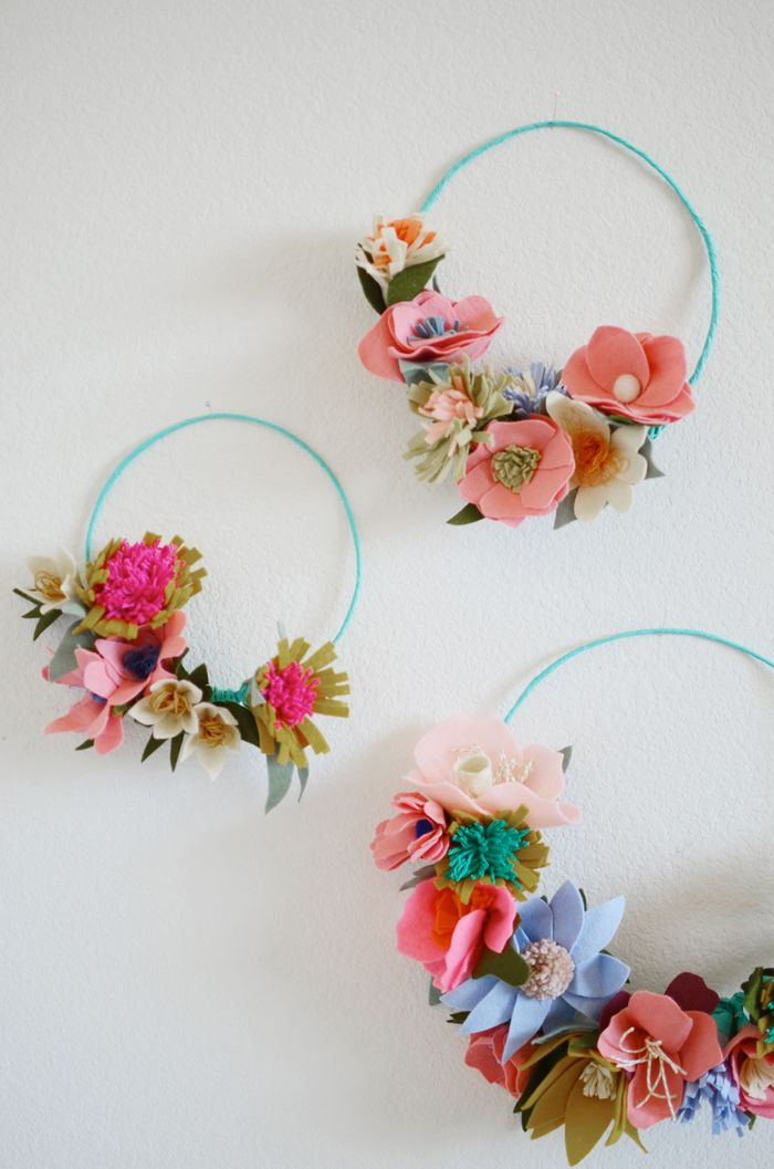 Diy felt flower crowns