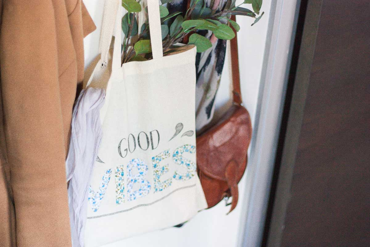 Diy floral quote tote bag set3