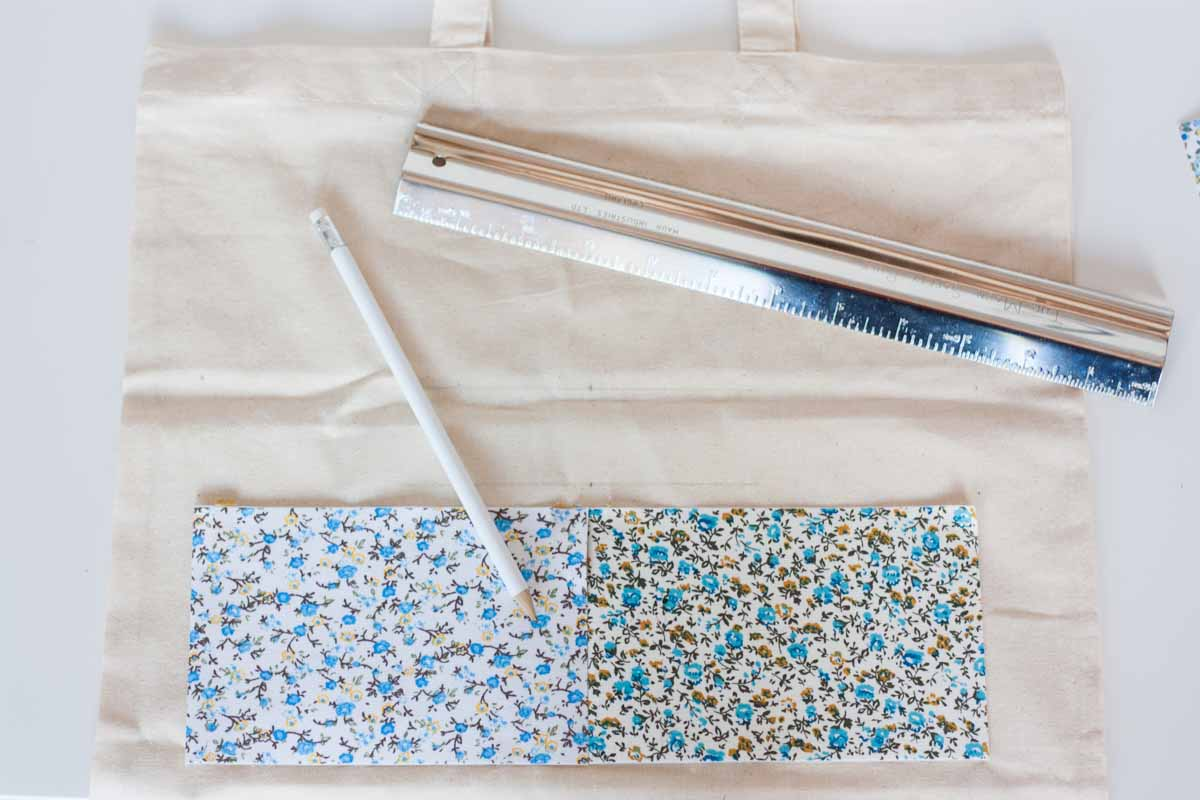 Diy floral quote tote bag trace