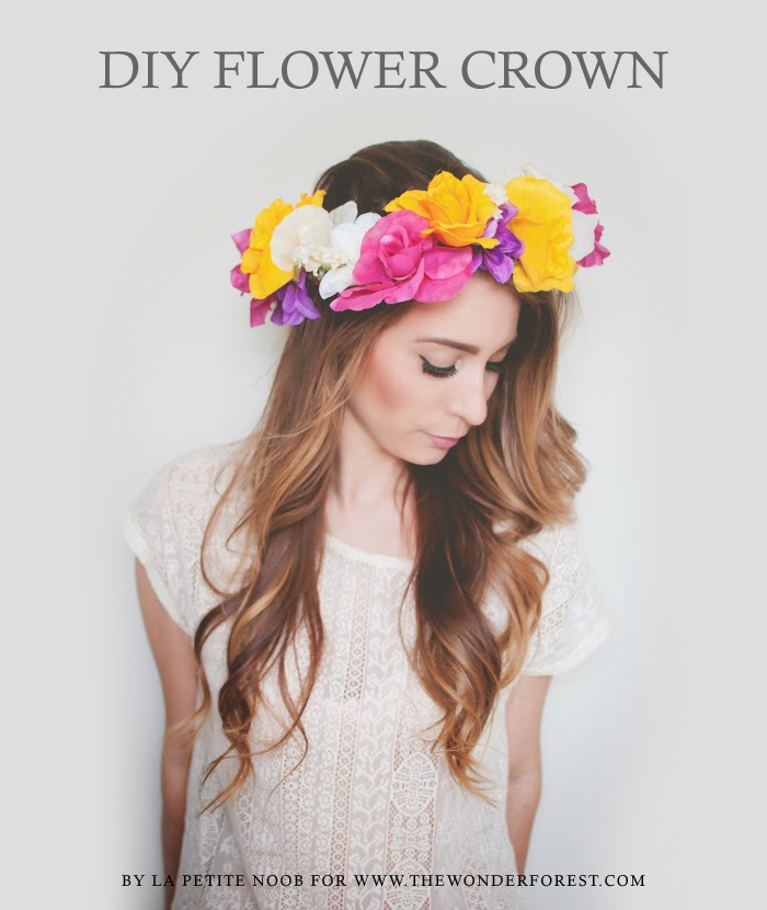 Diy flower crown tutorial