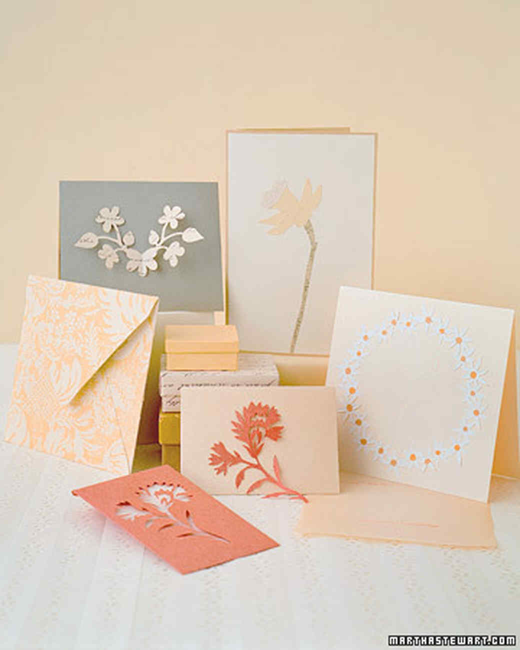 Diy flower paper cutout cards