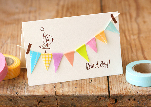 Diy happy birthday bunting card