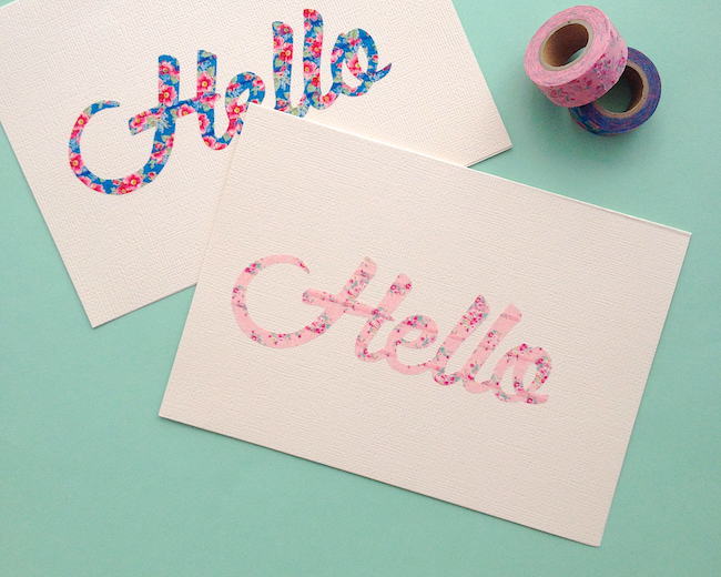 Diy hello birthday cards