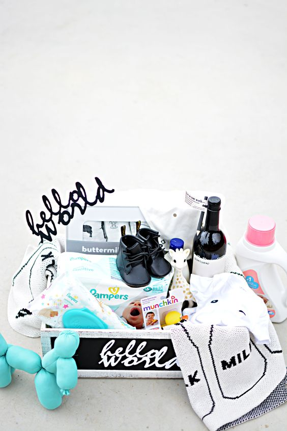 Diy hello world gift basket