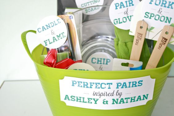 Diy perfect pair gift basket
