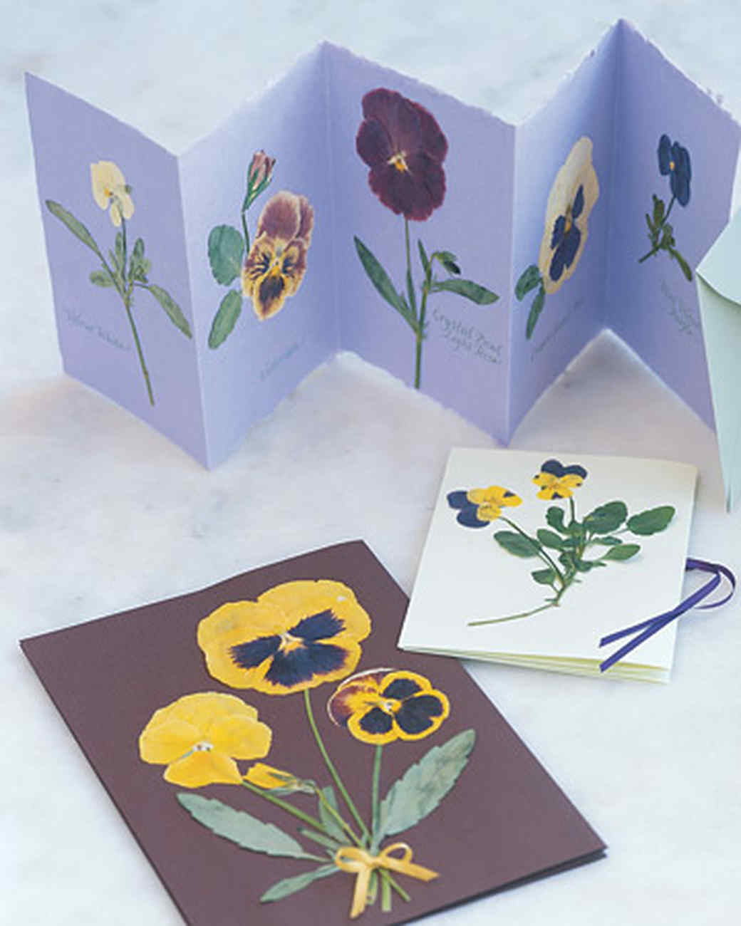 50 diy birthday cards for everyone in your life diy pressed pansy flower birthday card kristyandbryce Choice Image