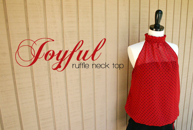 Diy ruffle neck top