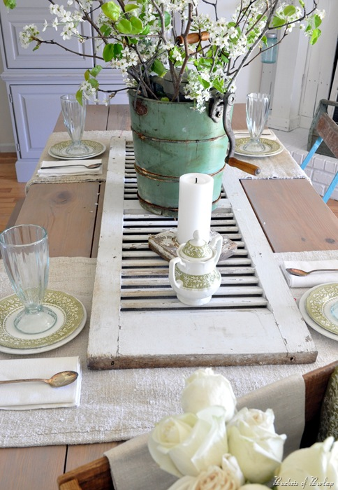 Diy shutter centerpiece