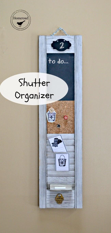Diy shutter organizers