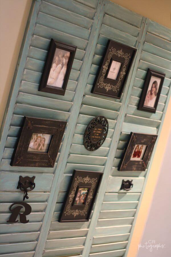 Diy shutters frame display