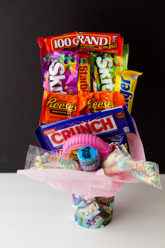 Diy sweet 16 candy bouquet