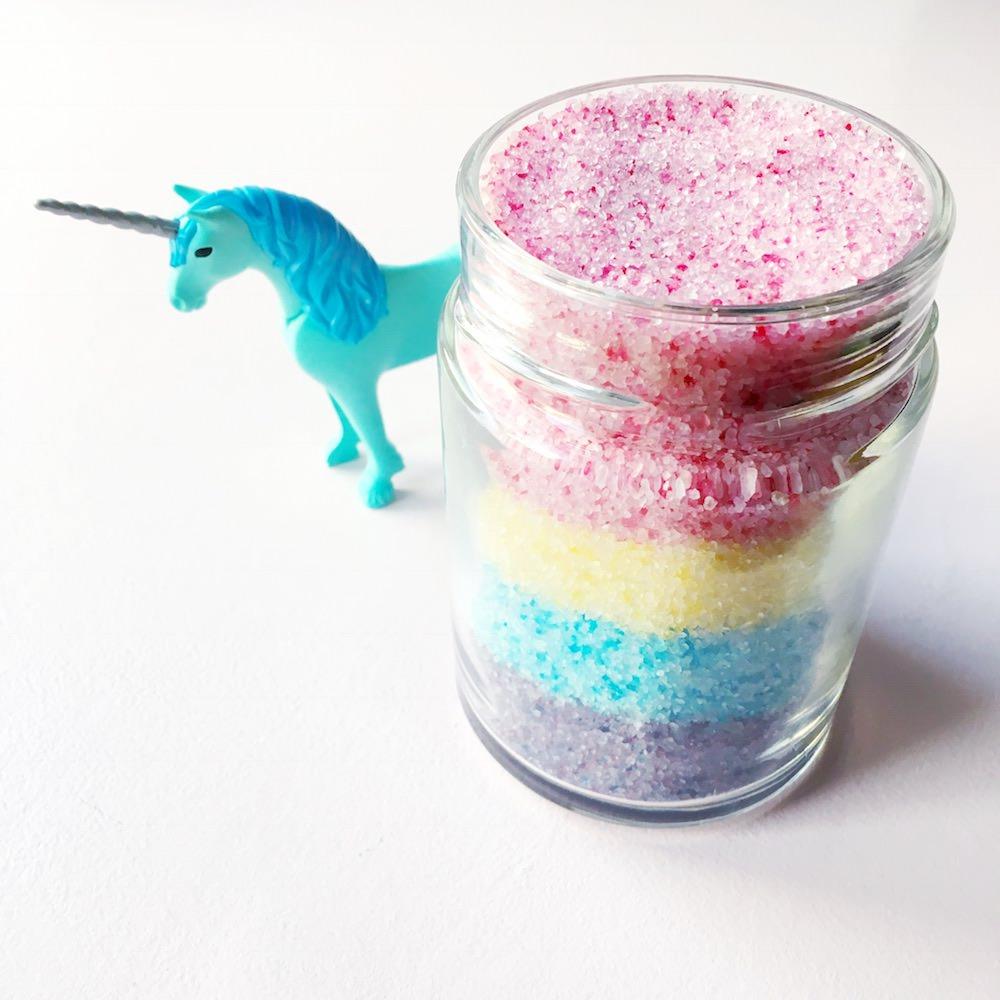 Diy unicorn bath salt
