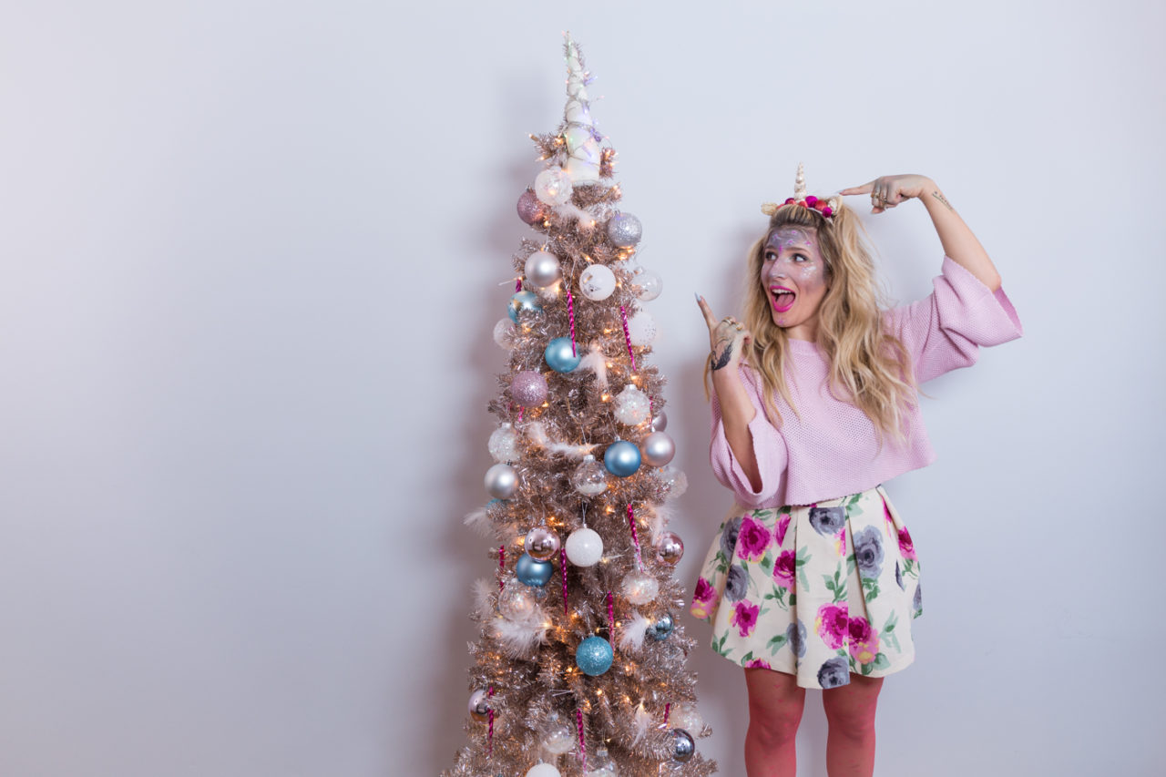 Diy unicorn christmas tree