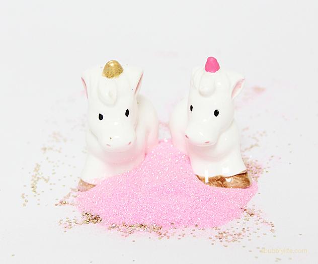 Diy unicorn glitter shakers
