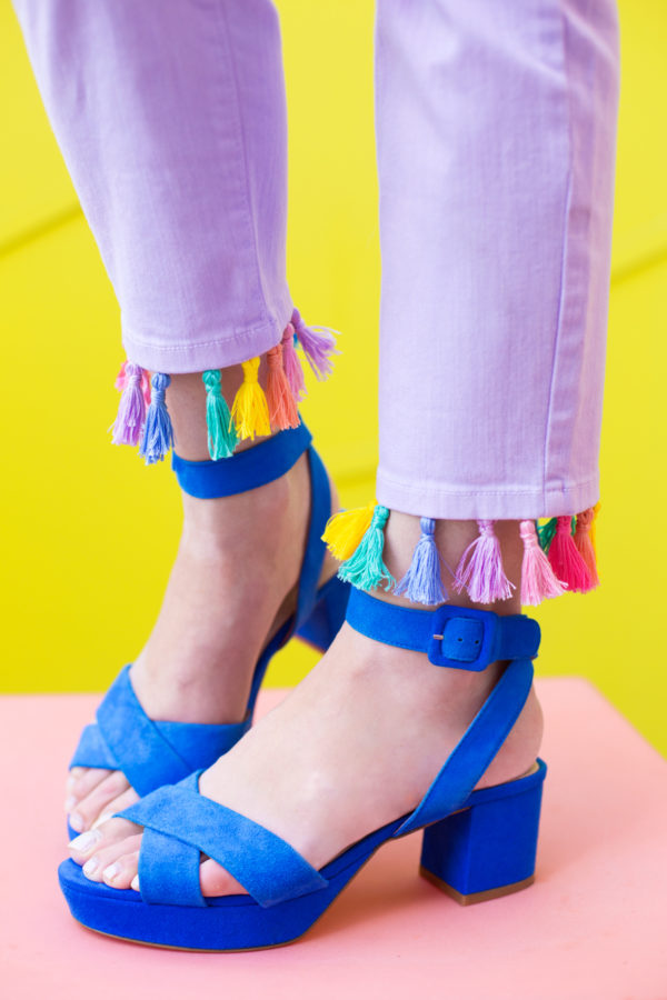 Diy unicorn tassel jeans