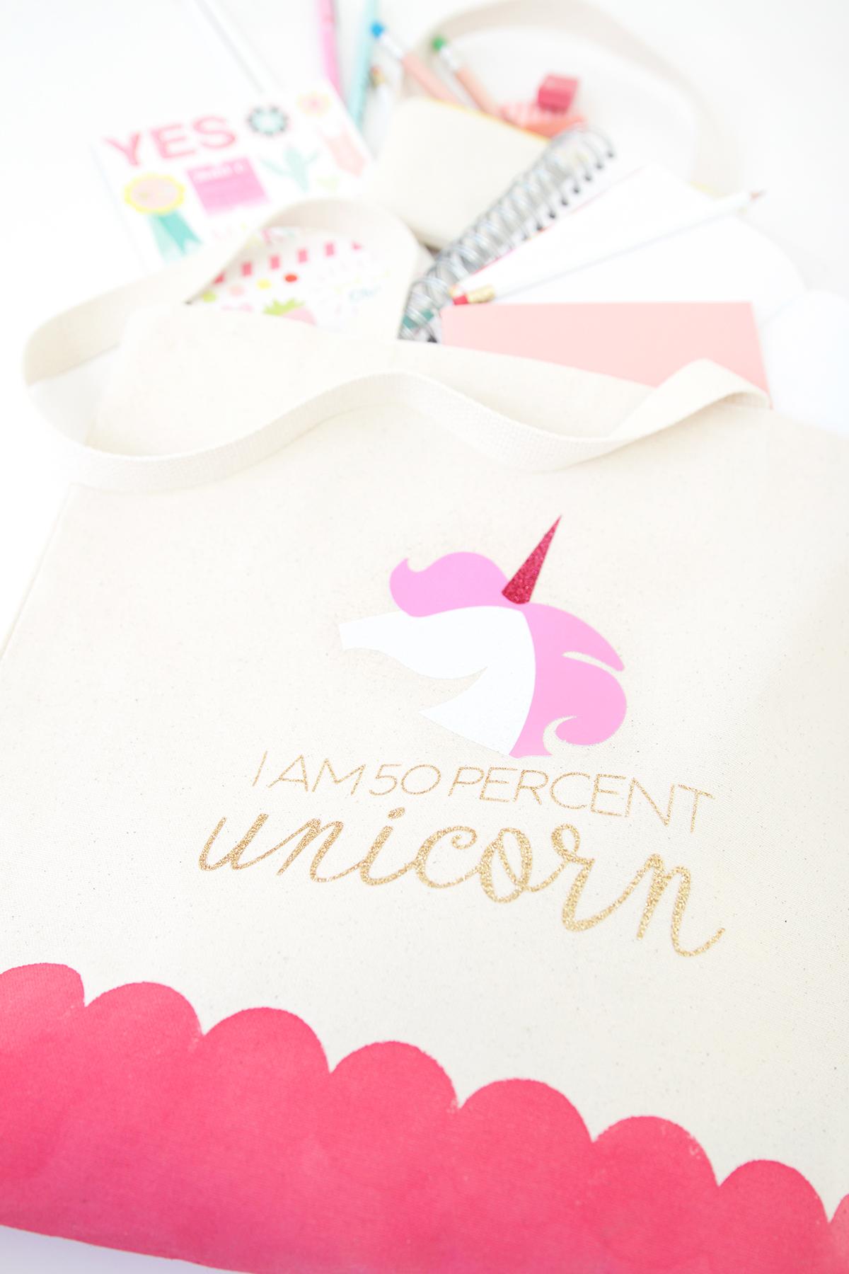 Diy unicorn tote bag