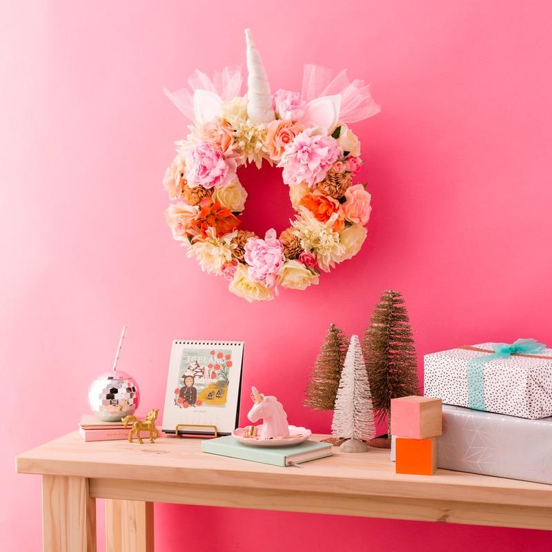 Diy unicorn wreath