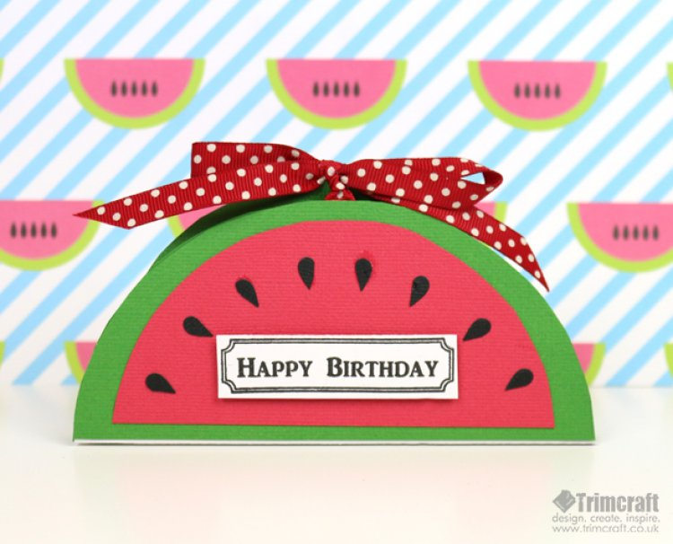 Diy watermelon birthday card