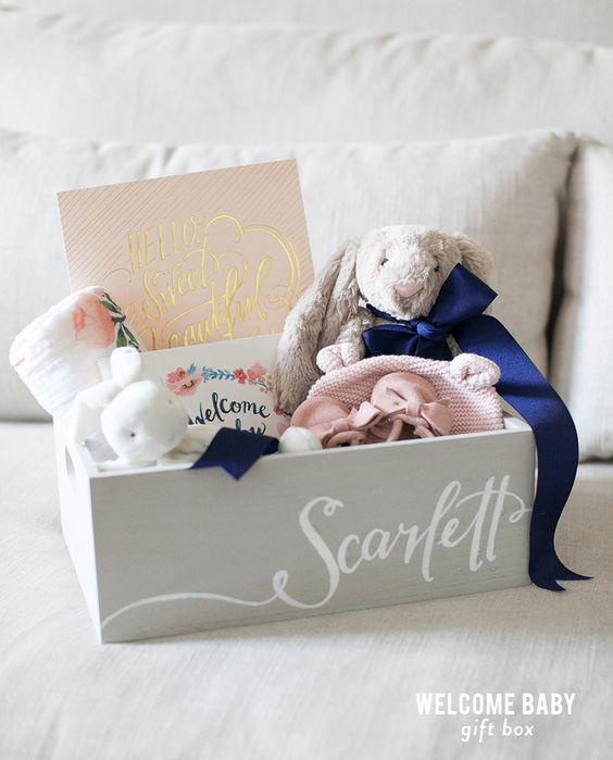 Diy welcome baby gift basket