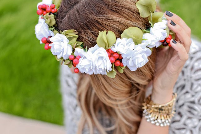 Diy winter flower crown